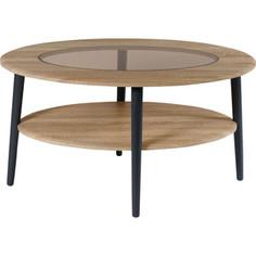 Стол журнальный Калифорния мебель Эль со стеклом СЖС-01 дуб сонома