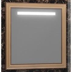 Зеркало в деревянной раме Opadiris Карат 100 золото, с подсветкой и сенсорным выключателем (Z0000006630)