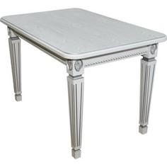 Стол обеденный Мебелик Меран 02 белый/патина 150х80