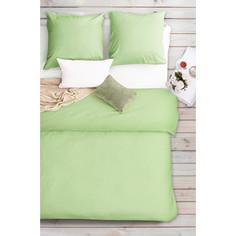 Комплект постельного белья Сова и Жаворонок 2-х сп, бязь Premium, гладкокрашеная, Тропическая орхидея