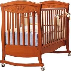 Кроватка Bambolina Principessa classic 125х65 вишня
