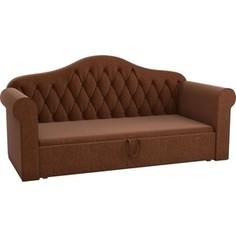 Детская кровать Мебелико Делюкс рогожка коричневый АртМебель