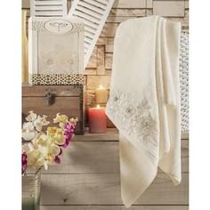 Полотенце Irya Romantic с гипюром 85x150 см кремовый (2518/CHAR003)