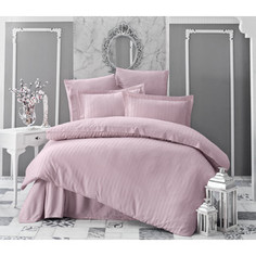 Комплект постельного белья Karna 2-х сп, бамбук, Perla пудра (814/CHAR013)