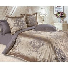 Комплект постельного белья Ecotex 1, 5 сп, сатин-жаккард, Карингтон(КЭ1Карингтон)