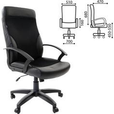 Кресло офисное Brabix Trust EX-535 экокожа черная ткань черная TW 531384