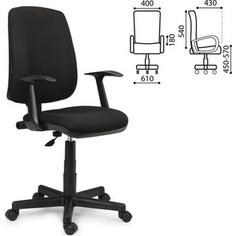 Кресло оператора Brabix Basic MG-310 с подлокотниками черное KB-14 531411