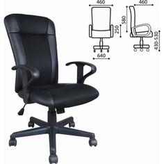 Кресло оператора Brabix Optima MG-370 с подлокотниками экокожа/ткань черное 531580