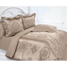 Комплект постельного белья Ecotex Евро, сатин-жаккард, Флоранс (КЭЕчФлоранс)