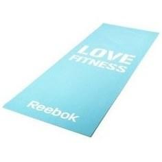 Тренировочный коврик Reebok RAMT-11024BLL (мат) для фитнеса тонкий Love (голубой)
