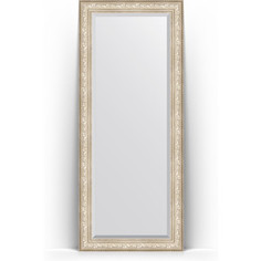 Зеркало напольное с фацетом поворотное Evoform Exclusive Floor 85x205 см, в багетной раме - виньетка серебро 109 мм (BY 6136)