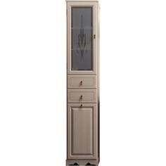 Пенал Opadiris Тибет 40 слоновая кость 1013 с художественным стеклом без корзины левый (Z0000006231)