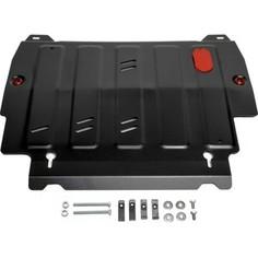 Защита картера и КПП АвтоБРОНЯ для Infiniti JX35 (2012-2013), QX60 (2013-н.в.) / Nissan Murano (2016-н.в.), Pathfinder (2014-2017), сталь 2 мм, 111.02415.2