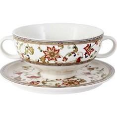 Суповая чашка на блюдце Imari Кардинал (IMB0304A-A194_NAL)