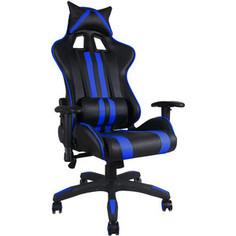 Офисное кресло TetChair iCar, кож/зам, черный/синий