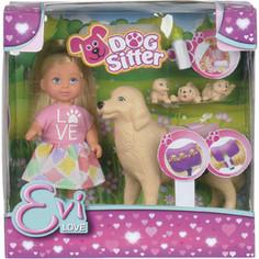 Simba Кукла Еви с собачкой и щенками, 12 см., 6/72 (5733072)