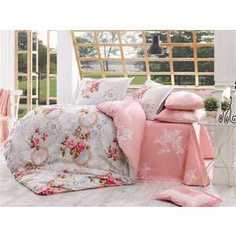 Комплект постельного белья Hobby home collection 1,5 сп, поплин, Clementina, розовый (1501000882)