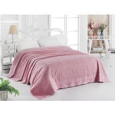 Простынь Karna махровая Esra 160x220 см розовый (1787/CHAR003)