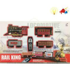 Железная дорога 1Toy Ретро-поезд, 19 дет, 3 вагона, пульт р/у, свет, звук, дым (Т10138)