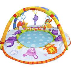 Игрушка для малышей S+S TOYS Развивающий коврик с дугой:веселые зверюшки (СС76749)