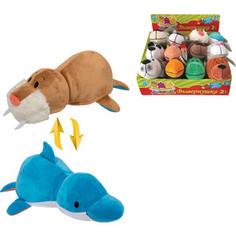 Мягкая игрушка 1Toy Вывернушка 20 см 2в1 Морж-Дельфин (Т10924)