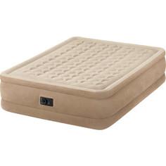 Надувная кровать Intex 64458 Ultra Plush Bed 152х203х46см (встроенный насос 220V)