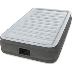 Надувная кровать Intex 67766 Comfort-Plush 99х191х33см (встроенный насос 220V)
