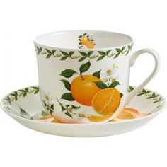 Чашка с блюдцем 0.48 л Maxwell & Williams Апельсин (MW637-PB8110)