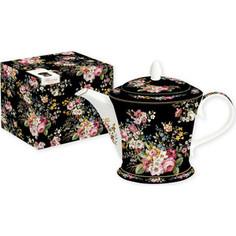 Заварочный чайник 1.0 л Easy Life (R2S) Цветочный карнавал черный (R2S1350/BLOB-AL)