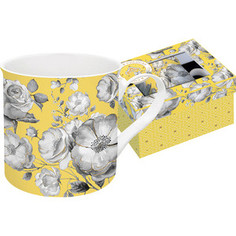 Кружка 0.3 л Easy Life (R2S) Цветовая палитра желтая цветы (EL-R0177/TCYG)