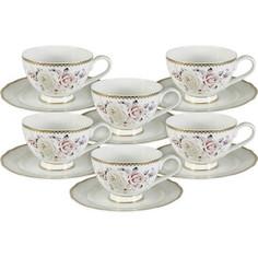 Набор чайный 12 предметов 0.2 л Anna Lafarg Emily Гармония (AL-M1789/12-E9)