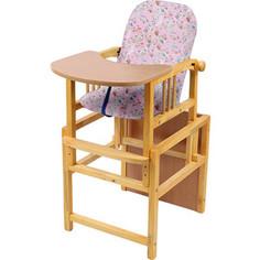 Стул-стол для кормления МЕГА ДОМ Слоник регулируемая спинка Розовый с-1 рз