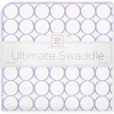 Фланелевая пеленка SwaddleDesigns для новорожденного Lavender Mod/WH (SD-022L)