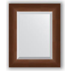 Зеркало с фацетом в багетной раме Evoform Exclusive 42x52 см, орех 65 мм (BY 1359)
