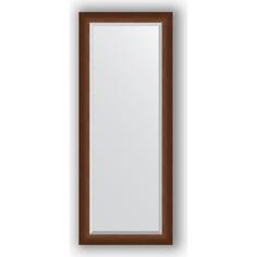 Зеркало с фацетом в багетной раме поворотное Evoform Exclusive 57x142 см, орех 65 мм (BY 1167)