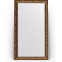 Зеркало напольное с фацетом поворотное Evoform Exclusive Floor 115x205 см, в багетной раме - виньетка состаренная бронза 109 мм (BY 6177)
