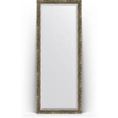 Зеркало напольное с фацетом поворотное Evoform Exclusive Floor 78x198 см, в багетной раме - старое дерево с плетением 70 мм (BY 6105)