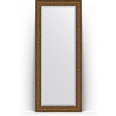 Зеркало напольное с фацетом поворотное Evoform Exclusive Floor 85x205 см, в багетной раме - виньетка состаренная бронза 109 мм (BY 6137)