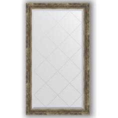 Зеркало с гравировкой поворотное Evoform Exclusive-G 73x128 см, в багетной раме - старое дерево с плетением 70 мм (BY 4221)