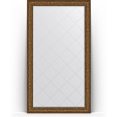 Зеркало напольное с гравировкой поворотное Evoform Exclusive-G Floor 115x205 см, в багетной раме - виньетка состаренная бронза 109 мм (BY 6377)
