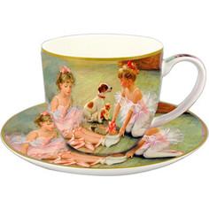 Чашка с блюдцем 0.25 л Carmani Балерины на отдыхе (CAR2-045-0234)
