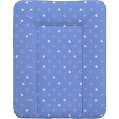 Матрас пеленальный Ceba Baby 70*50 см мягкий на комод Stars dark blue W-143-066-162