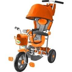 Велосипед 3-х колесный GALAXY Л001 Лучик с капюшоном оранжевый
