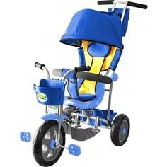 Велосипед трехколесный GALAXY Л001 Лучик с капюшоном синий