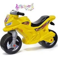 RT ОР501в3 Каталка-мотоцикл беговел Racer RZ 1 с музыкой, цвет желтый