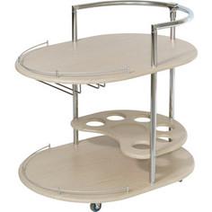 Стол сервировочный Калифорния мебель Официант дуб белёный
