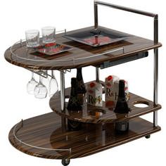 Стол сервировочный Калифорния мебель Бармен эбони глянец