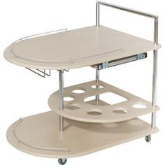 Стол сервировочный Калифорния мебель Бармен дуб белёный