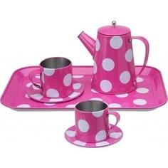 Посудка Alex Чайный набор розовый в горошек, от 3 лет (705PD) Alex®