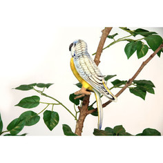 Мягкая игрушка Hansa Попугай волнистый голубой, 15 см (4653)